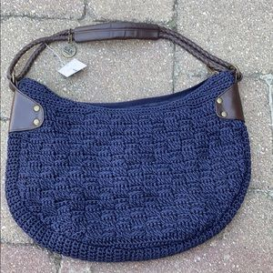 NWT The Sac Blue Crocheted Shoulder Bag